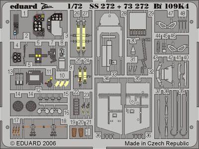 Eduard Accessories Ss272 - 1:72 Bf 109K-4 Für Fine Molds Bausatz - Ätzsatz - Neu