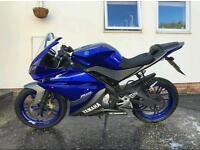 Yamaha yzf R125 blue with alarm