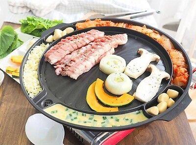 Queen Sense Korean BBQ Samgyeopsal Non-Stick All powerful Stovetop Grill Pan