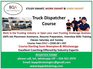 GET OFFICE JOB ASAP - DO DISPATCHER COURSE STARTING SOON I