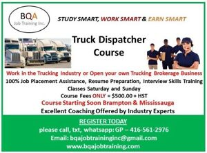 TRUCK DISPATCHER COURSE STARTING SOON IN BRAMPTON