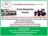 TRUCK DISPATCHER COURSE - JOIN ANY WEEK DAYS EVENING WEEK ENDS