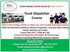 TRUCK DISPATCHER COURSE STARTING SOON - EVENINGS AND WEEKENDS
