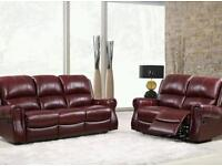 Leather recliner 3 & 2 Seater.