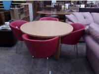 Meeting room table with 4x tub chairs