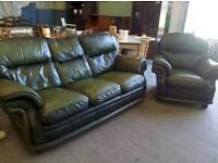 green monk Chester 3 Seater Sofa and arm chair