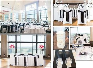 Wedding decor: Table runners/Table cloths/Giant Jenga/Feathers