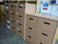 Huge selection of office filing cabinets in stock. 4 drawer £40. 3 drawer £35