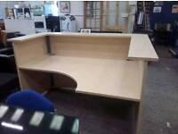 oak effect reception desk