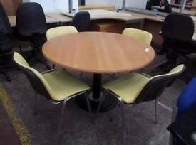 Meeting table and four chairs