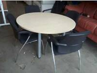 Meeting room table and high quality chairs