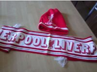 Liverpool football hat & scarf!