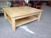 Solid Oak Coffee Table. Delivery Available