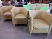 Mustard tub chair priced each
