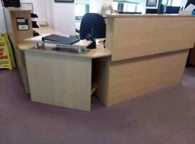 Oak office reception desk