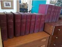 leather backed Oxford English Dictionaries set