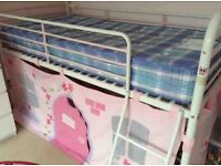 NEXT midi sleeper White and Pink Metal frame bed and Tent/cabin bed/bunk bed