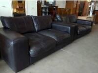 Leather sofa set