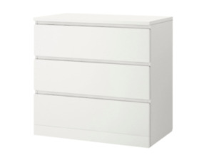 LOOKING FOR: Ikea malm 3 drawer chest in white