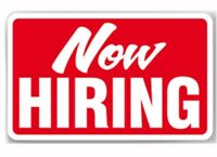 Now hiring servers and bartenders