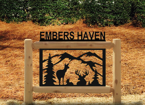 NEW PERSONALIZED DEER LAWN SIGNS - WILDLIFE ART