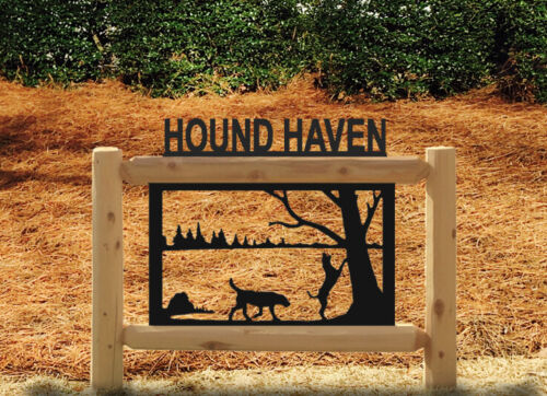 HOUNDS HUNTING PERSONALIZED SIGNS