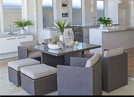 8 Seater Compact Cube Wicker Indulgence Indoor Or Outdoor Setting Part 96