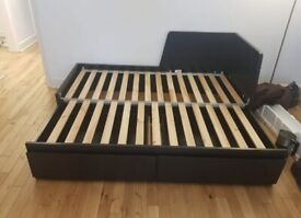 FREE DELIVERY IKEA FLEKKE BLACK BROWN PULL OUT DAY BED GOOD CONDITION