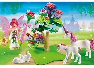 Playmobil Set Playmobil 5995 Fairy Princess Flowers Unicorns Pink Carry Case