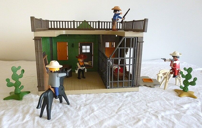 Playmobil Western Sheriff S Office Jail Rare Vintage