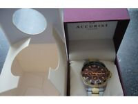 Accurist Men's Quartz Watch with two Tone Gold Plated Bracelet Mb1041B