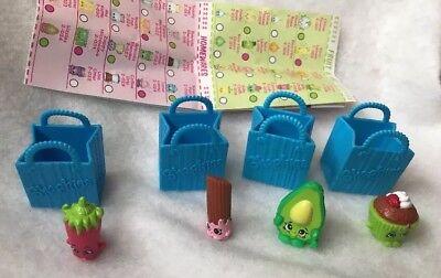 Shopkins Season 2 Cheery Churro Silly Chilly Dippy Avocado Cupcake Chic Lot