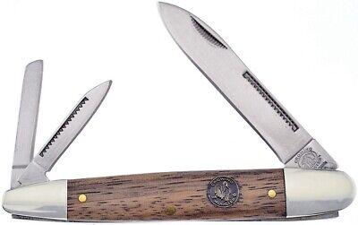 Frost Whittler Pocket Knife Mirror Finish Stainless Blade Zebra Wood -