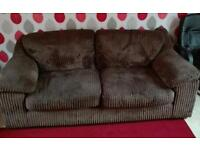 3 seater sofa with chair and footstool