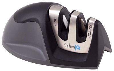 KitchenIQ Black Edge Grip 2 Stage Knife Sharpener