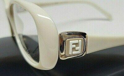NEW  FENDI Optical RX  Eyeglasses Frames  White Ivory F900  w/ Case Womens (Ivory Eyeglass Frames)