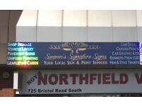 Shop signage, vehicle livery, van signs, wide format printing