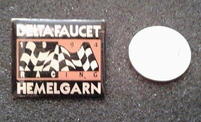 COLLECTIBLE DELTA FAUCET 1994 RACING HEMELGARN  LAPEL PIN TIE TAC