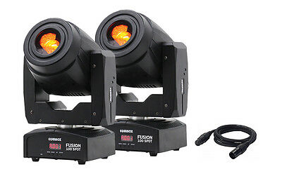 2 x Equinox Fusion 100 Spot 80W White LED DMX DJ Disco Stage Lighting Package