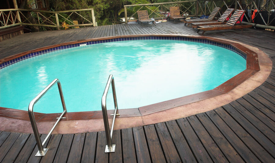 How to build a freestanding deck around an above ground - How to build an above ground swimming pool ...