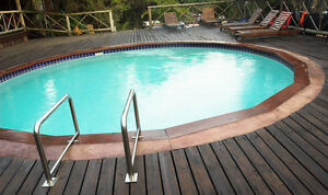 Above ground pool decks ebay for Above ground pool metal decks