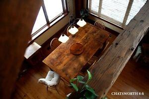 Rustic Reclaimed Threshing Floor Harvest Tables Dining