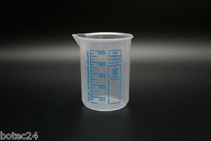 Messbecher Griffinbecher 100 ml aus PP Kunststoff