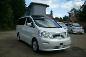 2004 TOYOTA ALPHARD CAMPER VAN MOTORHOME 4 BERTH,POPTOP ROOF,SIDE KITCHEN,ULEZ