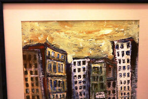 KRIS ENGSTROM ORIGINAL THE CITY PAINTED 2000 WORLD RENOWNED Moose Jaw Regina Area image 2