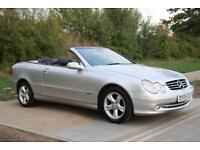 Mercedes-Benz CLK 200 AUTO COMPRESSOR CONVERTIBLE 'FSH' 'HPI CLEAR' NEW MOT