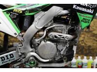 2017 KAWASAKI KXF 250 MOTOCROSS BIKE, RENTHAL HANDLEBARS, APICO FLEXI LEVER SET