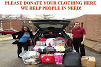 Children's, women's and men's clothing needed here!