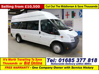 2012 - 62 - FORD TRANSIT T430 2.2TDCI 135PS RWD 17 SEAT MINIBUS (GUIDE PRICE)