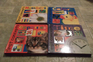 Children First Concepts Books - Numbers, Colors, Opposites, Time